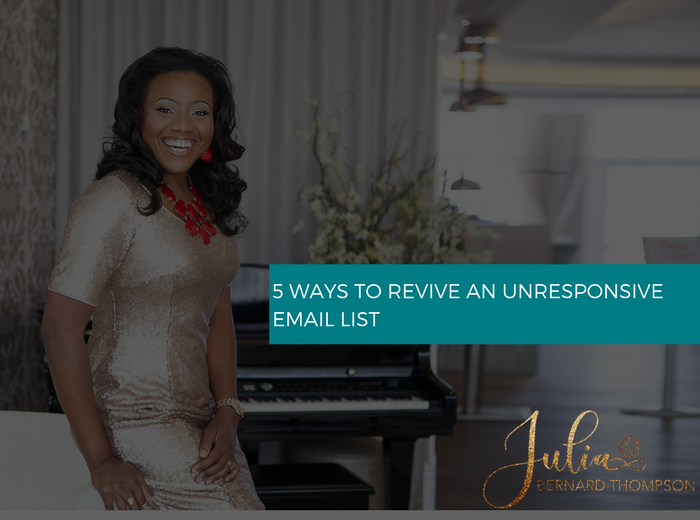 5 Ways to Revive an Unresponsive email list
