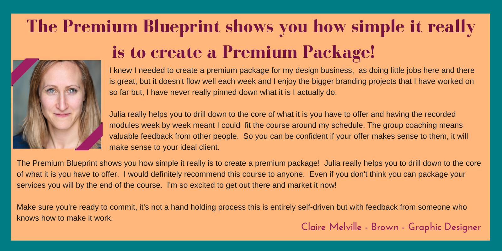 Premium Blueprint - Julia Bernard-Thompson