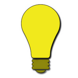yellow lightbulb