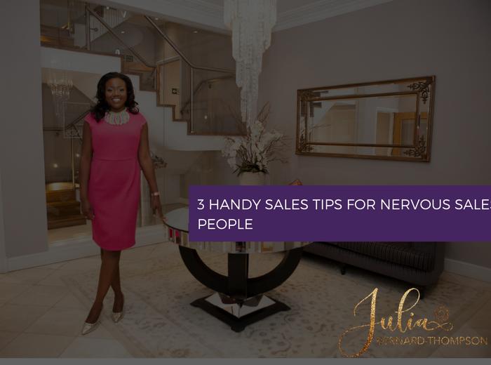 3 Handy Sales Tips for Nervous Sales People